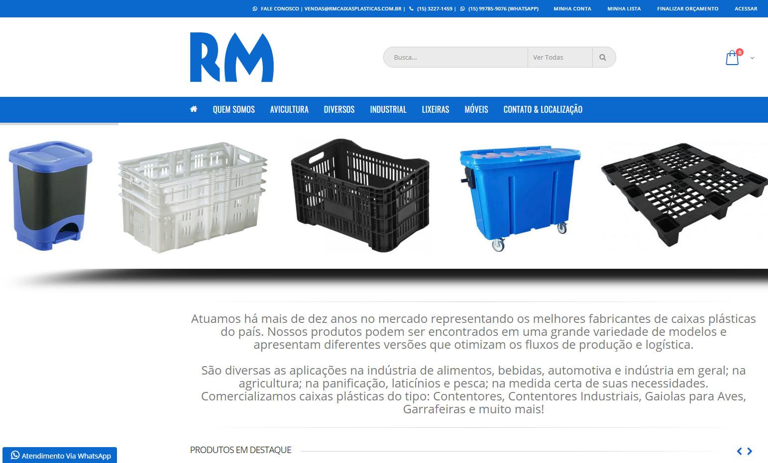 RM Caixas Plásticas